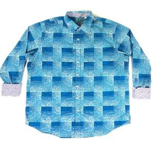 Robert Graham Mens XL Embroidered Shirt Flip Cuff